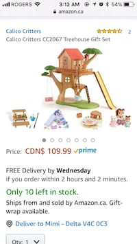 New Calico Critters treehouse play set - retails for $123 Vancouver, V5V