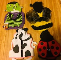 Various doggie clothes, sizes from small to medium. Martha Steward and pet Halloween. Never been worn, still have tags. Can make a deal depending on if all or bought. Florence, 39073