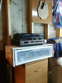 black Sony and silver Samsung DVD players