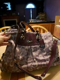 Purple Coach monogram tote bag Bowie, 20720