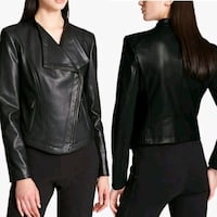 New Large DKNY faux leather jacket  Toronto, M6K 3E1