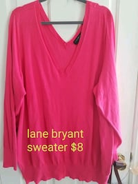 women's pink v-neck long sleeve shirt West Valley City, 84119