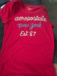 red and white aeropostale sweatshirt