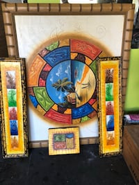 Hand paints brought from Punta Cana, beautiful!!  $35 for all 4.  Ocoee
