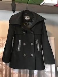 black double breasted coat with black pants Toronto, M6P 5A2