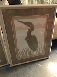 brown wooden framed painting of woman Wilmington, 28405