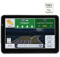 Car GPS Navigation 7-inch Touch Screen Built-in 8BG and 128MB GPS Navigation System Map Free Lifetime Update 歐文, 92606