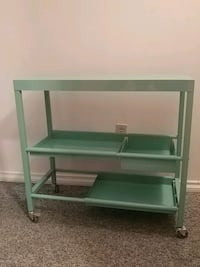 Teal metal bar cart/storage cart West Kelowna, V1Z 1G4