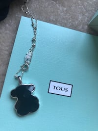 Tous silver and black onyx pendant and necklace
