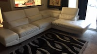 Selling White Leather Couch  Alexandria, 22311