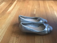 pair of gray leather pointed-toe heeled shoes Henrico, 23238