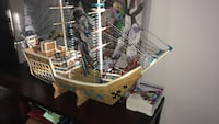 brown, white, and black galleon ship scale model Blainville, J7C 4Z2