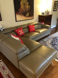 Italien leather sectional sofa . 2 years old. Potomac, 20854