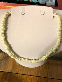 Pale green puka shell choker Waterdown, L8B 0E6