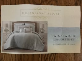 Twin XL comforter package; foam mattress and pad too