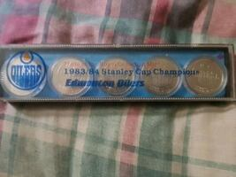 83/84 STANLEY'S CUP CHAMPIONS OILERS 5 SILVER DOLLERS