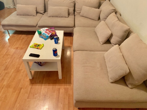 Used modern L shaped sofa for sale in TAMPA - letgo