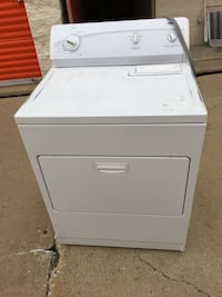 White front-load clothes dryer Carol Stream, 60188