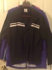 black and purple zip-up jacket Lamar, 29069