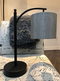 Black and gray table lamp (delivery available) Toronto, M1C 5B1