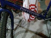 blue and red hardtail bike 2390 mi