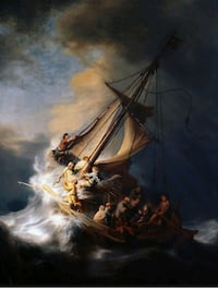 The storm on the sea of Galilee by Rembrandt Fullerton, 92833
