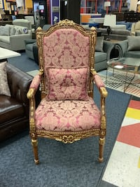 New Purple & Gold Elegant Accent Chair