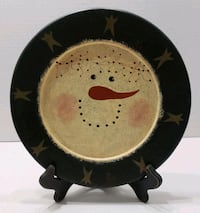 Snowman plate with frame  Hagerstown, 21742