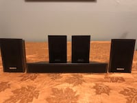 Black wall mount speakers  Puyallup, 98374
