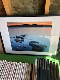 Sunset scene photo with frame