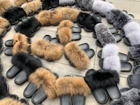 Fox fur slippers  Whitby