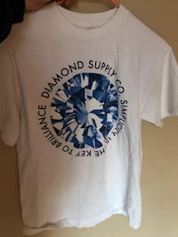 white and blue Diamond Supply Co. crew-neck shirt Central Okanagan, V1Z 3Z3