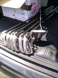 white and black golf club set Denver