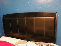 Black leather queen headboard Conover, 28613