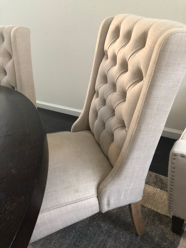 Evelyn Tufted Wingback Hostess Chairs By INSPIRE Q Artisan