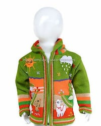 Children arpillera peruvian sweater - Peruvian kids wool jacket  Woodbridge