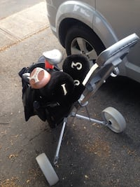 Complete set of left handed golf with trolley Oakville