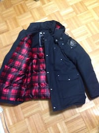 black and red plaid button up jacket Toronto, M9R 1P9