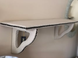 Taupe Wall Fabric Shelf with nailhead (Sold)