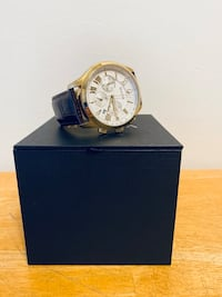 Bulova Watch (Mens) Gold w/Leather Strap