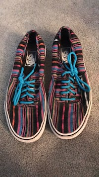 red-teal-and-white striped Vans low-top sneakers Great Falls, 59404