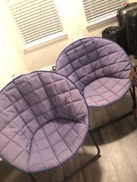 two purple and black padded chairs Atlanta