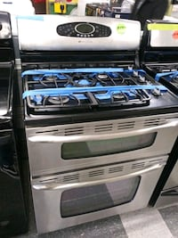 Maytag stainless double oven range