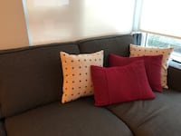 Red and patterned throw pillows Vancouver, V6A 4G7