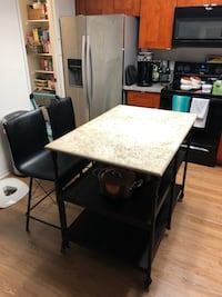 Kitchen Island - marble top - Living Spaces Lake Forest, 92630