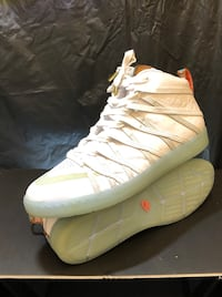 pair of white-and-orange Nike basketball shoes Compton, 90221