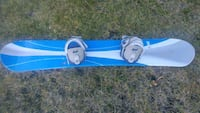 blue and white snowboard with bindings Calgary, T2W 6C8