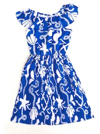 NEW Lilly Pulitzer ($245) Blue off shoulder pleated dress  Kitchener, N2N