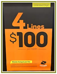 4 lines for $100