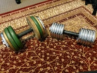 Dumbbells for sale...65lbs and 35lbs for sale..... Toronto, M5A 1Y6
